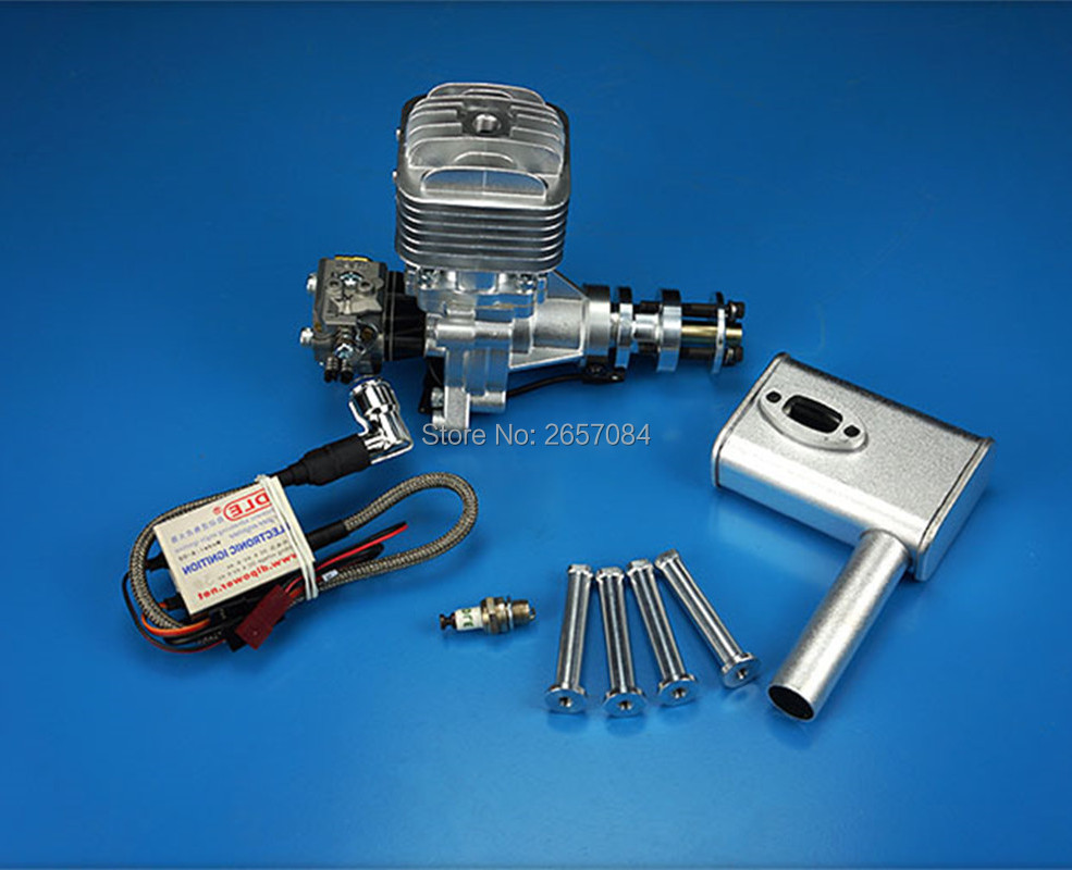 DLE30 30cc GAS Engine For RC Airplane Fixed Wing Model Single Stroke two exhaust wind cold hands start after Stroke