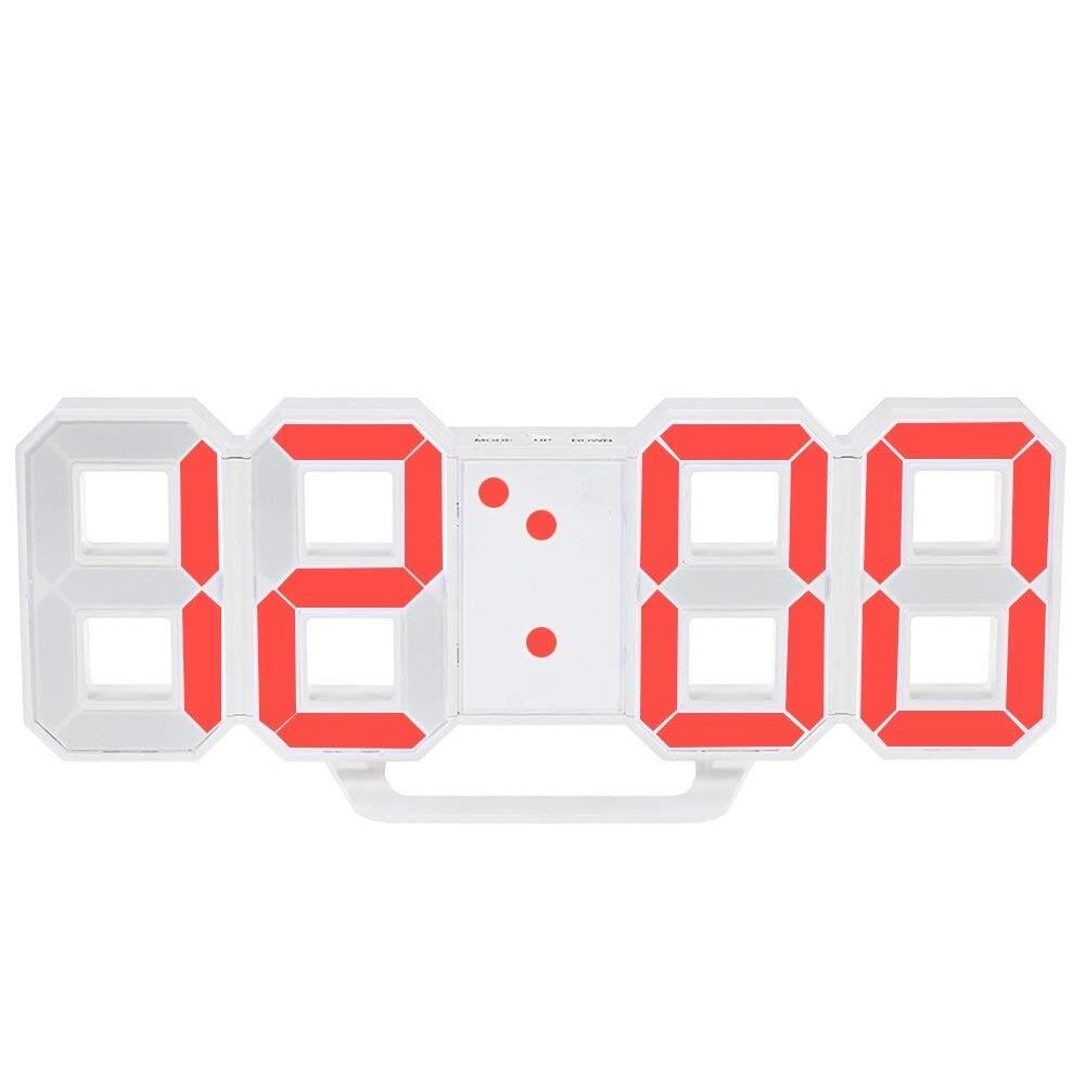 Orologio Da Parete A Led Orologio Da Tavolo Sveglia Digitale Con Display A Led Rossi Luminosità Regolabile