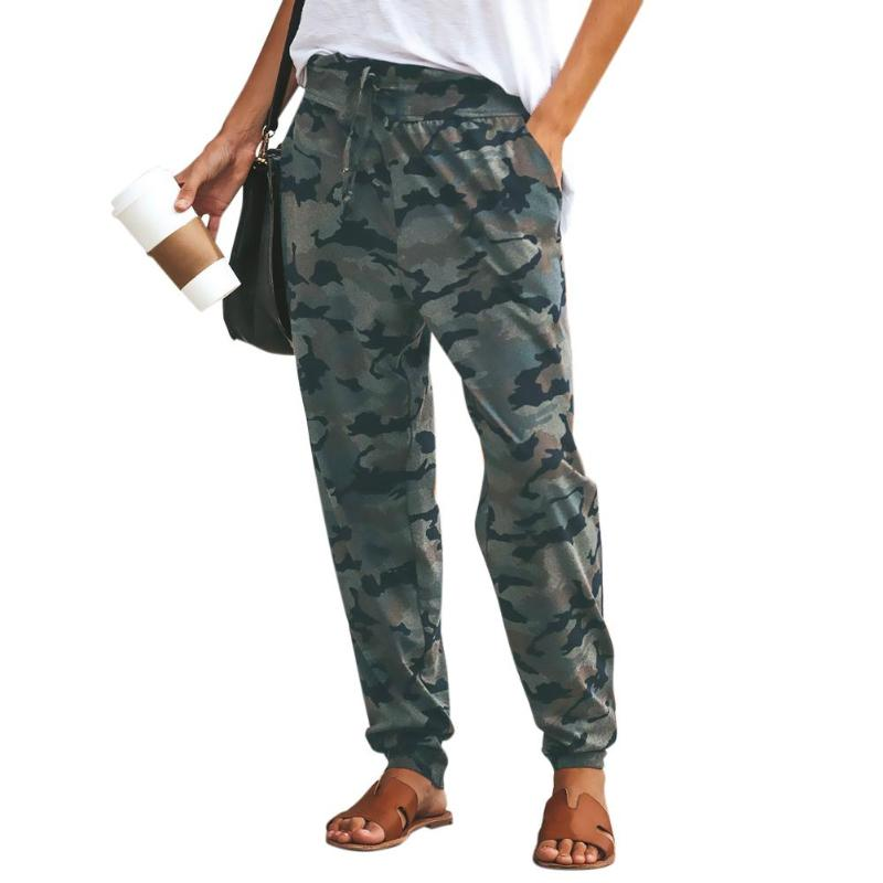 Women Camouflage High Waist   Pants   Army Loose Joggers Harem Camo   Pants   Streetwear Punk Cargo   Pants   Women   Capris   trousers New