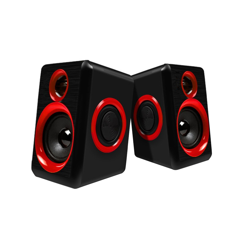 Surround Portable Computer Speakers With Stereo Bass Usb Wired Powered Multimedia Speaker Desktop For Pc Laptops image