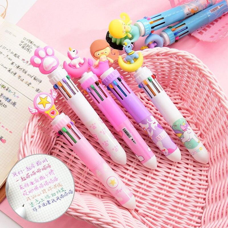 Kawaii fantasy unicorn mermaid 6 in 1 Multicolor Pen 1