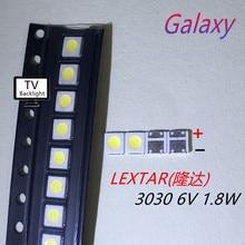 Lextar 6 V высокомощный светодиодный светильник с подсветкой 1,8 W 3030 6 V холодный белый 150-187LM PT30W45 V1 ТВ-приложение 3030 1000 шт