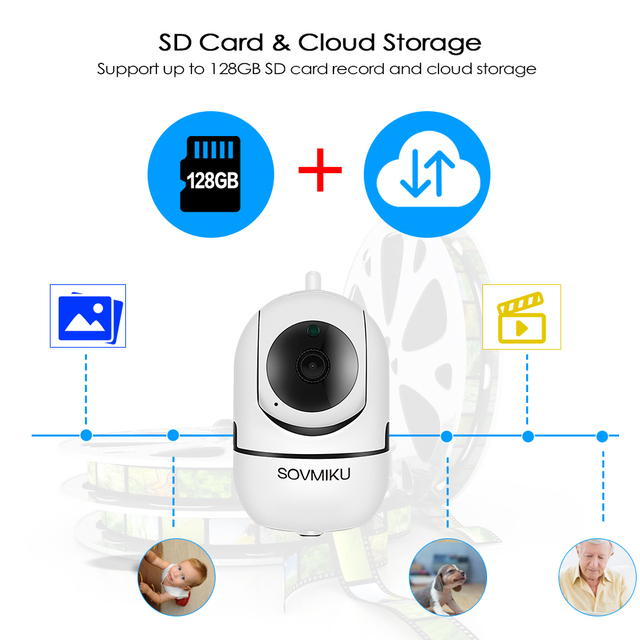 HD 1080P Cloud IP Camera WiFi Wireless Smart Auto Tracking Of Human Home Security Surveillance CCTV Network Camera Baby Monitor 4