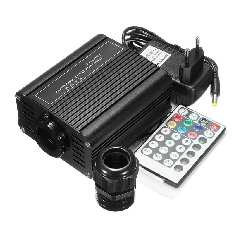 16 W RGB à distance rvb LED équipement de Source de Fiber optique Source de lumière Machine générateur Fiber illuminateur étoile Kit plafonnier décor