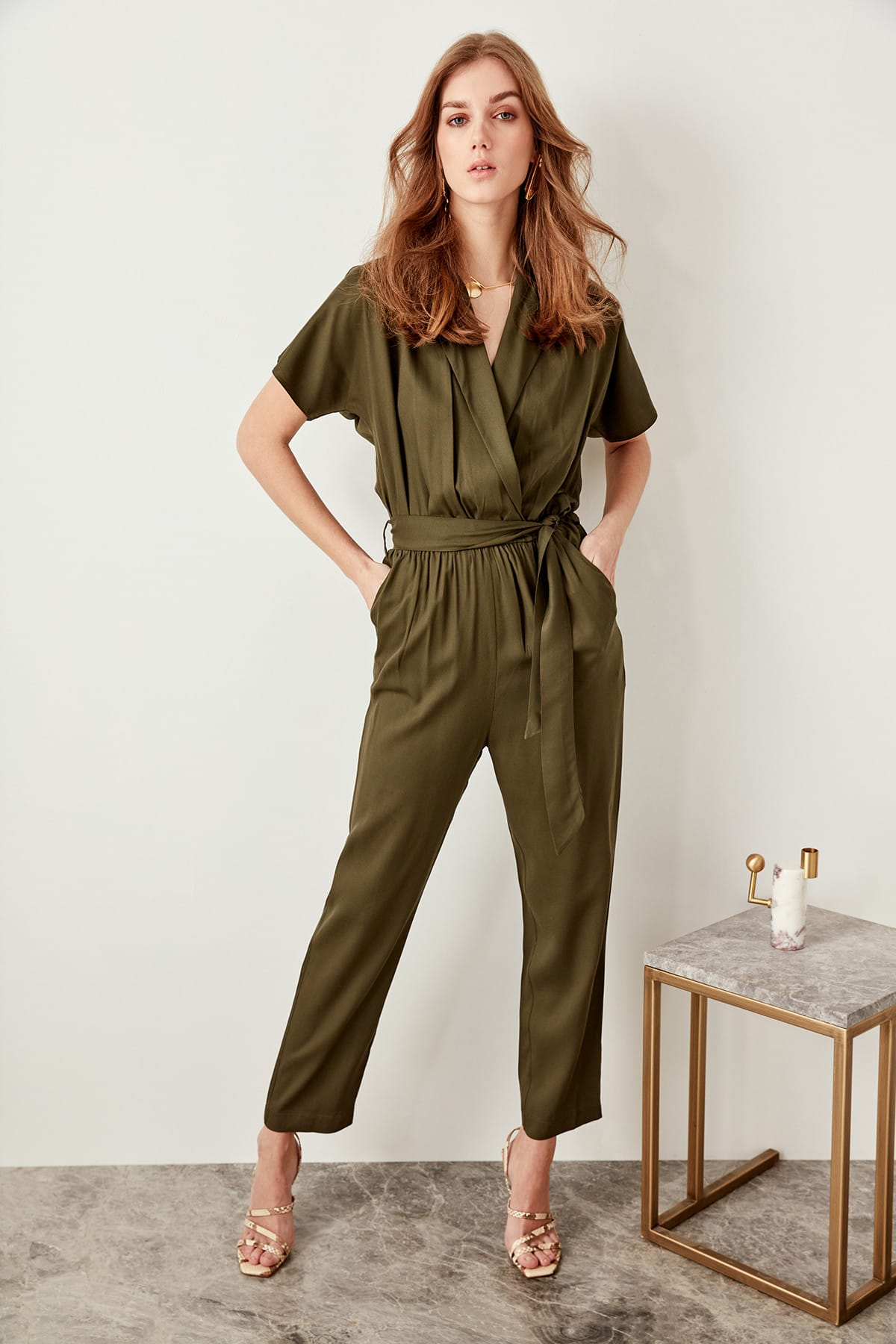 Trendyol Advanced Linking Karki Military Style Jumpsuits TWOSS19LJ0158