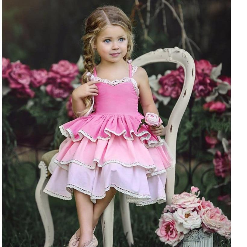 2019 Baby Girls Dress Summer Toddler Tutu Dress Princess Girl Party Dress Wedding Vestido Infantil Kids Dresses For Girls in Dresses from Mother Kids