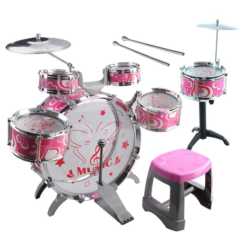 1 ensemble enfants tambour Kit bande musicale Playset chaise cymbale enfants jouet cadeau1 ensemble enfants tambour Kit bande musicale Playset chaise cymbale enfants jouet cadeau