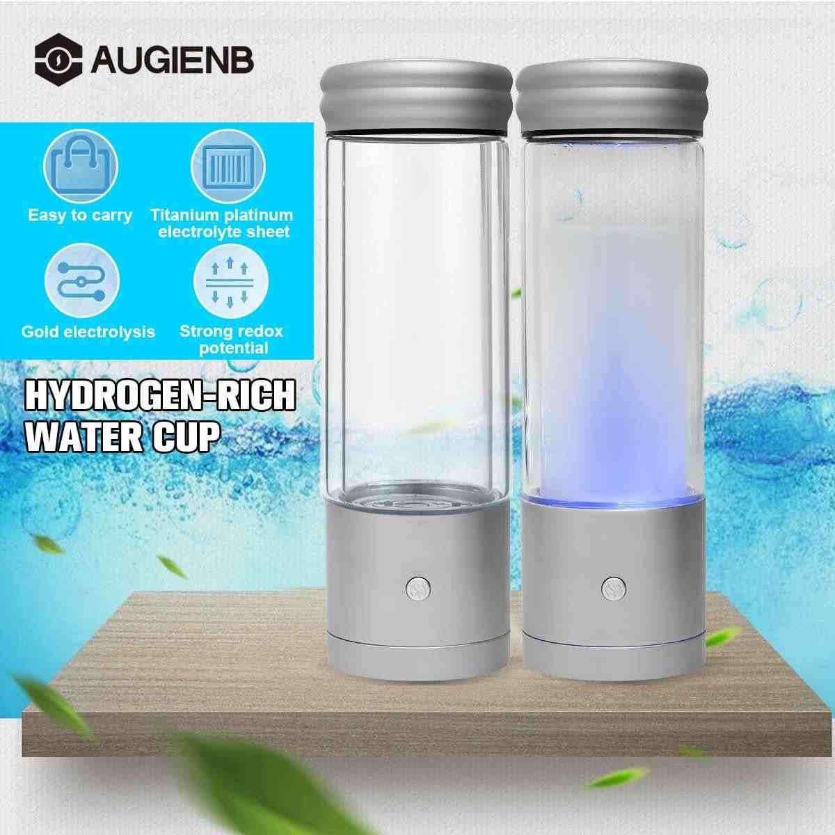 23fc46119c Augienb 350ML Hydrogen Rich Water Bottle Ionizer Generator Alkaline Energy  Glass bottle Anion Water Ionizer High