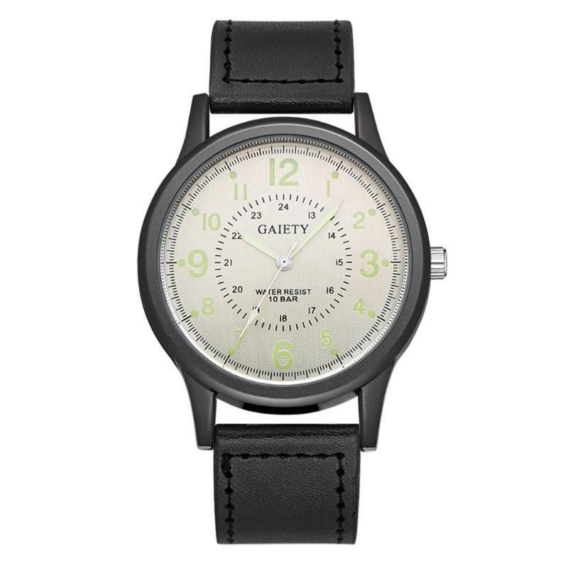 Luxury Women's Watch Fashion Simple PU Watchband Lovers' Quartz Watch Unisex Women Men Business Wristwatches