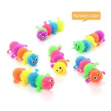 Pet Cat Toy Funny Fun Simulation Caterpillar TPR Rubber Tidy Venting Decompression Home Daily