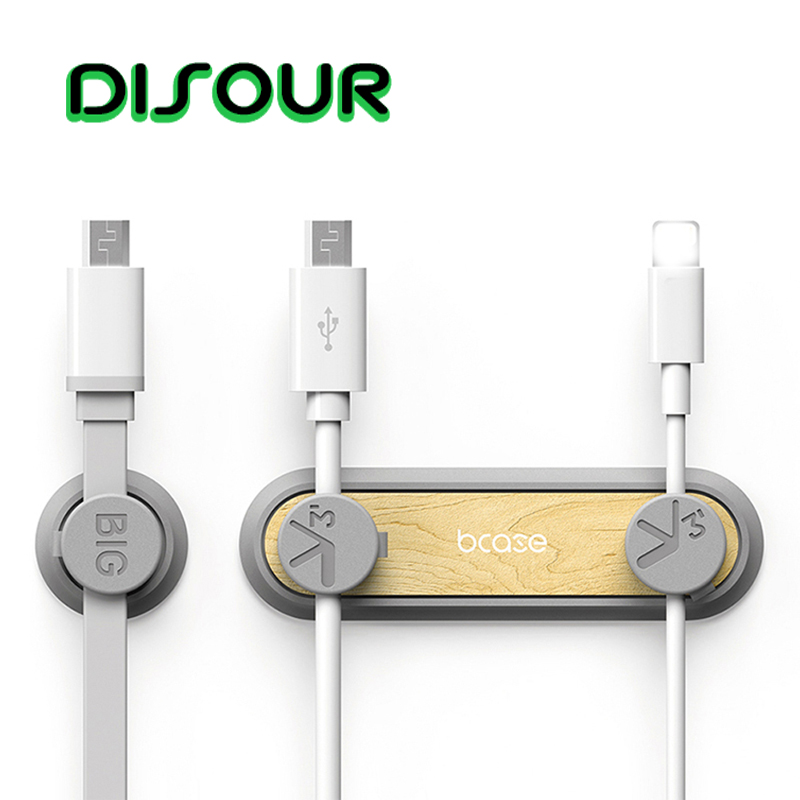 DISOUR Cable Organizer Magnetic Wire Winder Clip Earphone Cable Holder Mouse Cord Protector Power Cable Data Cable Management