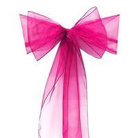10 шт. Imixcity красивая органзы Лента на стул лента с бантом для свадьбы или банкета Роза