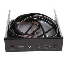 Usb 3,0 2 порта оптический привод Передняя панель адаптер расширения Usb 3,0 концентратор+ Hd аудио+ кнопка включения питания