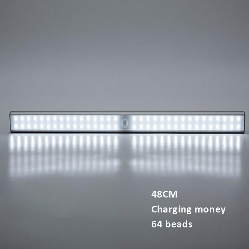 64 LED 48cm Cabinet Lights Human Body Motion Sensor Lamp for Wardrobe Cupboard Closet Kitchen Night Light Warm/White Light