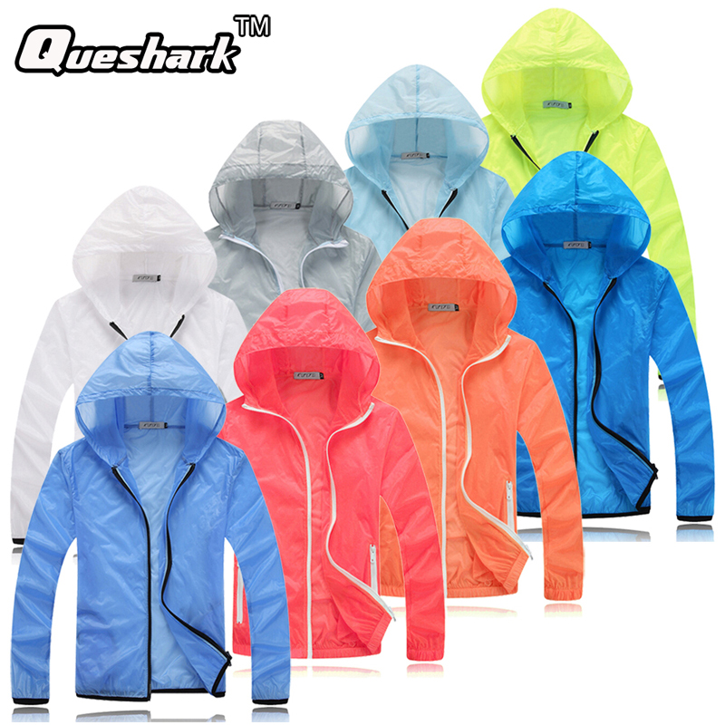Men Women Ultralight Anti-UV Skin Coat Jacket Outdoor Sports Quick Dry Sun Protective Hiking Windbreaker Hooded Cycling Jersey