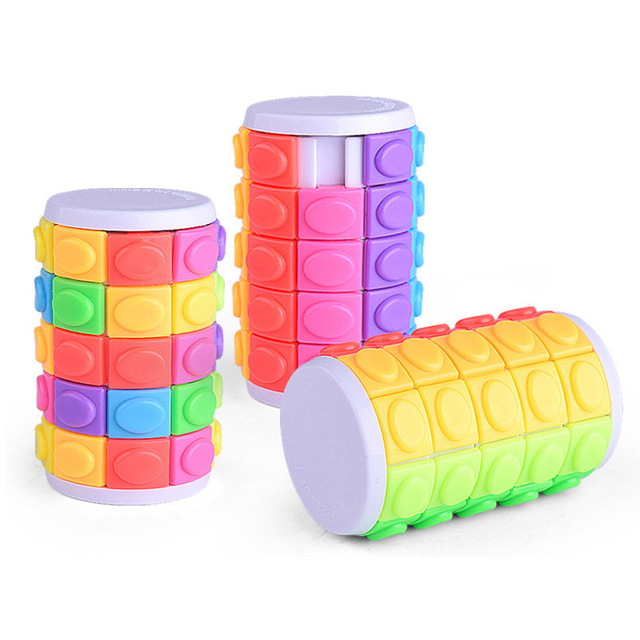 Colorful Magic Tower Cube Kids Toys 5 Dimensional Sliding 3D Puzzles Educational Toys for Children Adult Funny Anti-stress Gifts 4