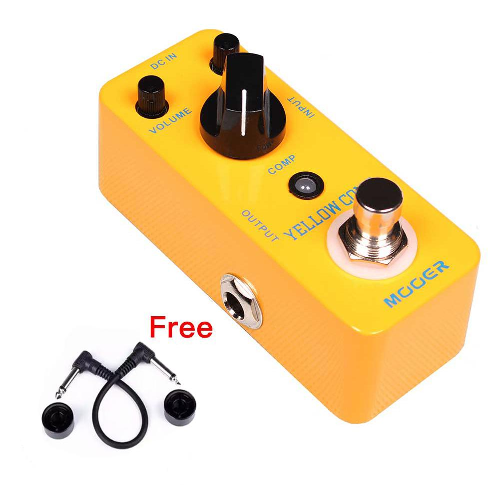 MOOER Guitar Effects Pedal Yellow Comp Micro Mini Optical Compressor Effect Pedal True Bypass for Electric Guitar AccessoriesMOOER Guitar Effects Pedal Yellow Comp Micro Mini Optical Compressor Effect Pedal True Bypass for Electric Guitar Accessories