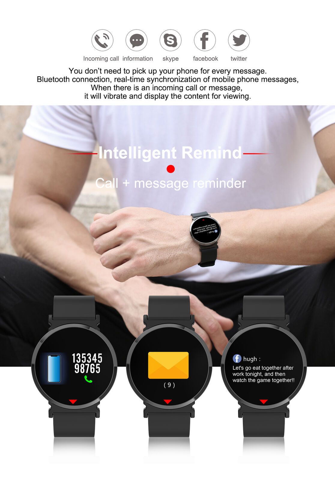 Cell Phones & Accessories Bluetooth Smart Watch W/camera Waterproof Phone Mate For Android Samsung Iphone