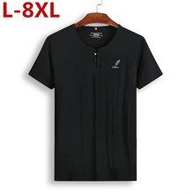 цены 2019 Chinese Style New Plus Size 8xl 7xl Or Neck Short Sleeve T Shirt Men Fashion Men Casual Shirts For Men Wp3915 T-shirt Tops