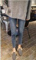 2019 Autumn Casual Women Jeans Loose Casual Boyfriend Denim High Elastic Waist Women Jeans Pencil Pant Plus Size G3P7