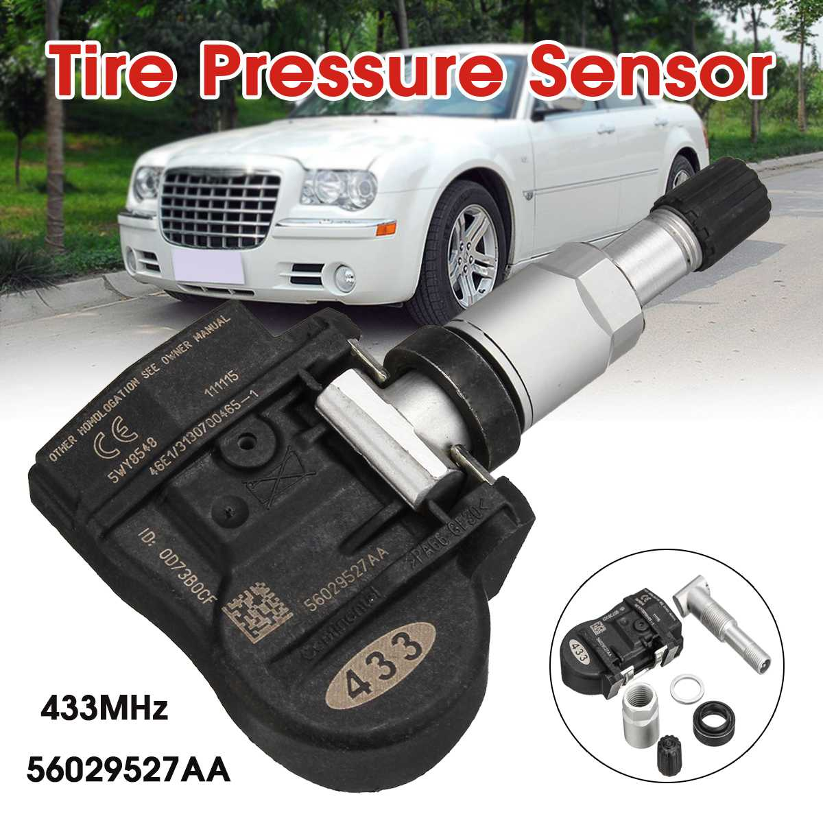 56029527AA Tire Pressure Monitoring System Sensor  Tire Pressure Sensor 433MHz For Chrysler 200 300 For Dodge 68078768AA
