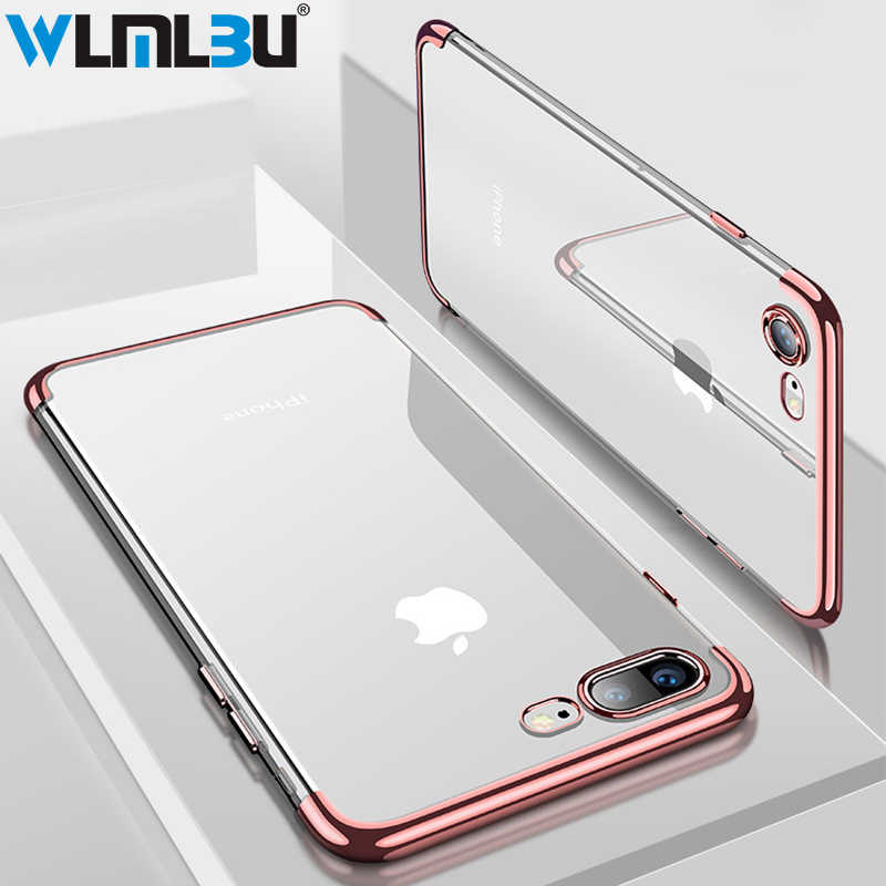 WLMLBU Silicon Clear Soft Case voor iPhone X 10 iPhone 6 S 6 s 6 Plus 6 SPlus iPhone 7 8 7 Plus 8 Plus slim Mobiele Telefoon Cover Behuizing