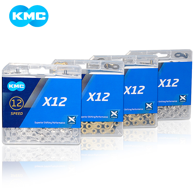 KMC X12 12 speed 126L MTB Mountain Bike Bicycle Chain 12s Gold Chain with Magic Button