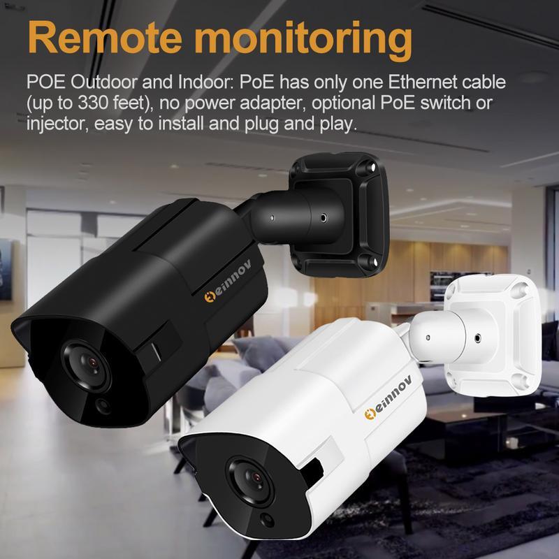 Surveillance-Camera Remote-Monitoring Bullet Night-Vision CCTV Security H.265 5mp Outdoor