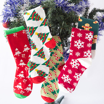 Christmas Socks Women Cartoon Funny Cute Winter Female & Hosiery Cotton Square Foot Personality Harajuku Kawaii Ukraine - discount item  25% OFF Women's Socks & Hosiery