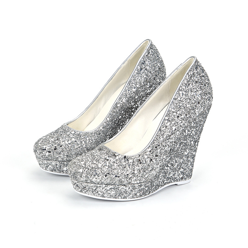 Carole Levy 2019 Newest Lucky Girl Bling Fascinating Angel Wedges Wedding Shoes Fashion Woman Summer Single Shoes High Platform