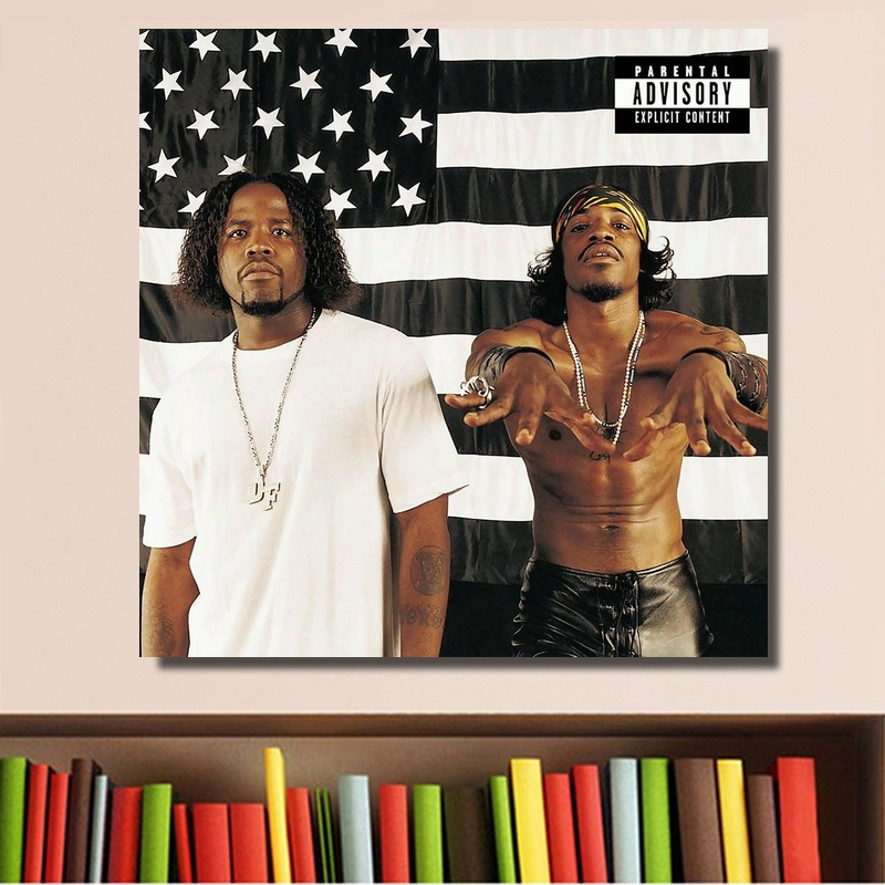 Outkast Stankonia Duo 2000 Album Cover Poster Print on Canvas Home Decor Wall Art No Frame image