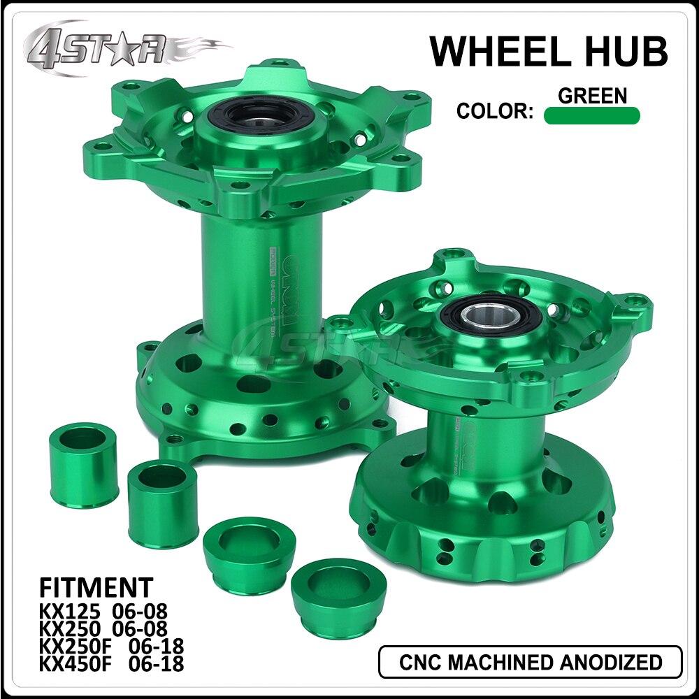 Motorcycle CNC Aluminum Alloy Front Rear Wheel Hub For Kawasaki KX125 KX250 2006 2007 2008 KX250F KX450F KX 250 450 F 2006 2018