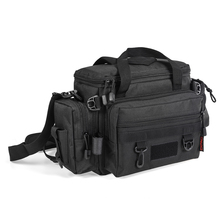 Lixada Waterproof Fishing Bag Large Capacity Multifunctional Lure Reel Fishing Tackle Storage Bag Fishing Shoulder Bag Waist Bag
