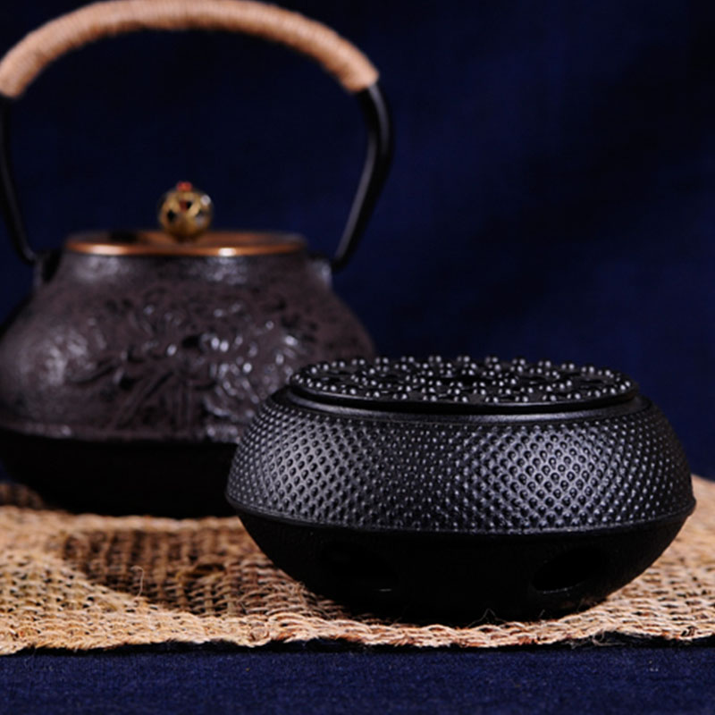 Hot-Cast Iron Burning Stove Alcohol Heater Japan Honeycomb Furnace Carbon Charcoal Heating Teapot Copper Base Insulation