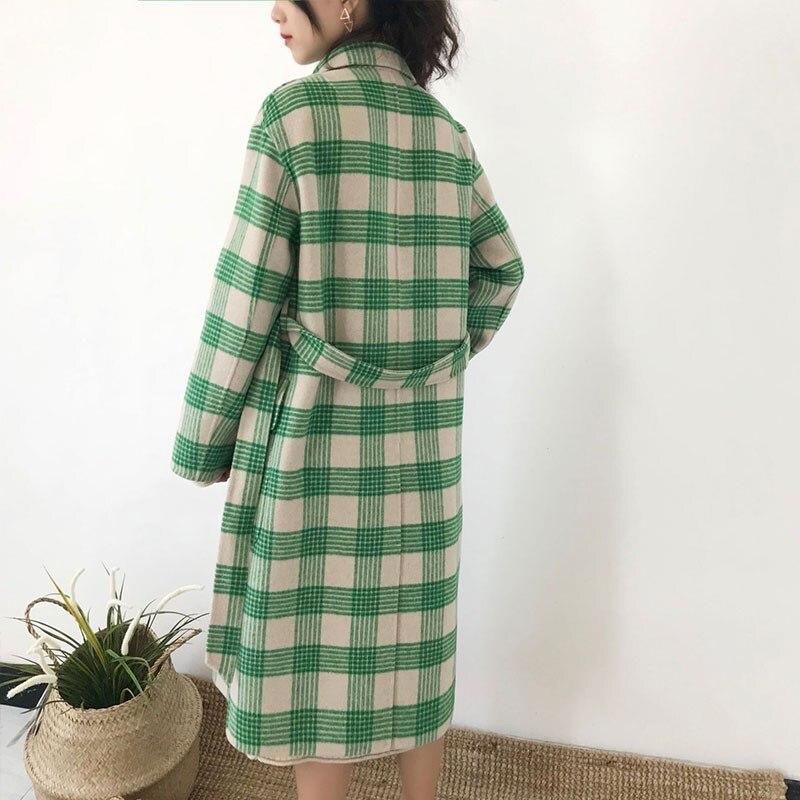 Mélange Élégant Long Spéciale Offre D'hiver Vestes De Lattice Laine 2019 Cachemire Haute Tartan Femmes Manteaux Qualité Veste Mince Hj43 Manteau Vert Green gBCwayqx