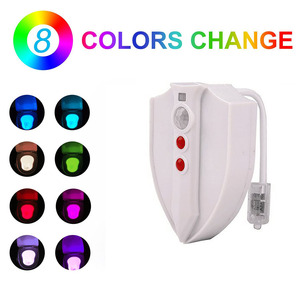 Image 2 - Coquimbo UV Sterilization Backlight For Toilet Bowl RGB PIR Motion Sensor Toilet Light Battery Operated Bathroom Night Light