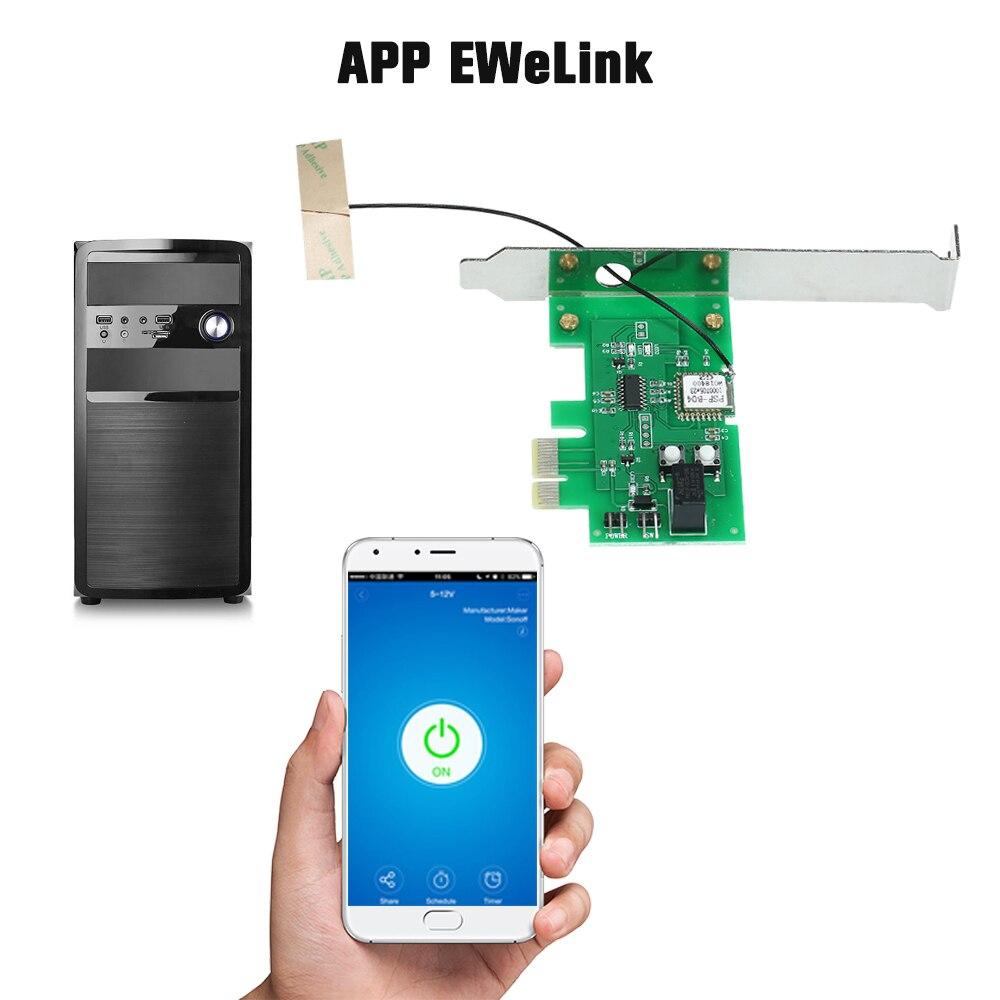 Image 3 - EWeLink Mini PCI e pulpit pc pilot przełącznik karty WiFi bezprzewodowy inteligentny przełącznik moduł przekaźnika bezprzewodowy dla inteligentnego domuAutomatyzacja budynków   -