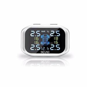 Image 2 - LCD TPMS ولاعة السجائر اللاسلكية الرقمية مراقبة ضغط الإطارات نظام 4 الخارجية الاستشعار نظام إنذار سيارة تشادويك TP720