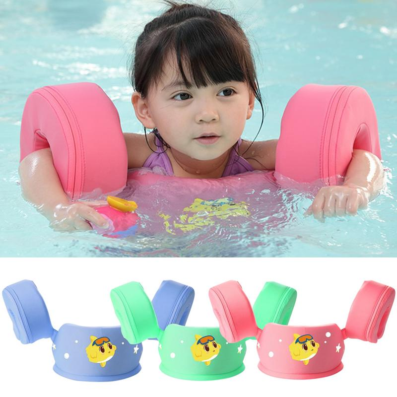 Inflation Free Baby Swimming Buoyancy Arm Ring Float Cartoon Children Waist Inflation Free Floats Swimming Pool Toy
