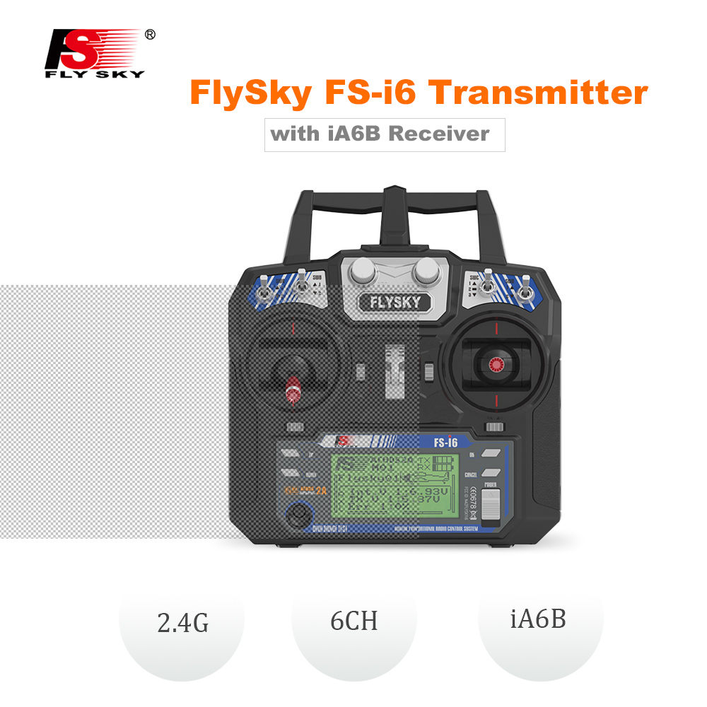 FlySky RC Drone FS i6 Remote Controller Transmitter iA6B Receiver 2 4G 6CH for Fixed Wing