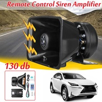 12 Sounds 400w Max 12v Auto Car Vehicle Truck Wireless Remote Control Siren Amplifier Alarm Horn Electronic Siren Loudspeaker