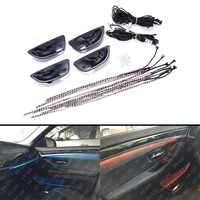 2 Colors Blue & Orange Car Interior Ambient Atmosphere Lamp LED Light Stripes For BMW F10 / F11