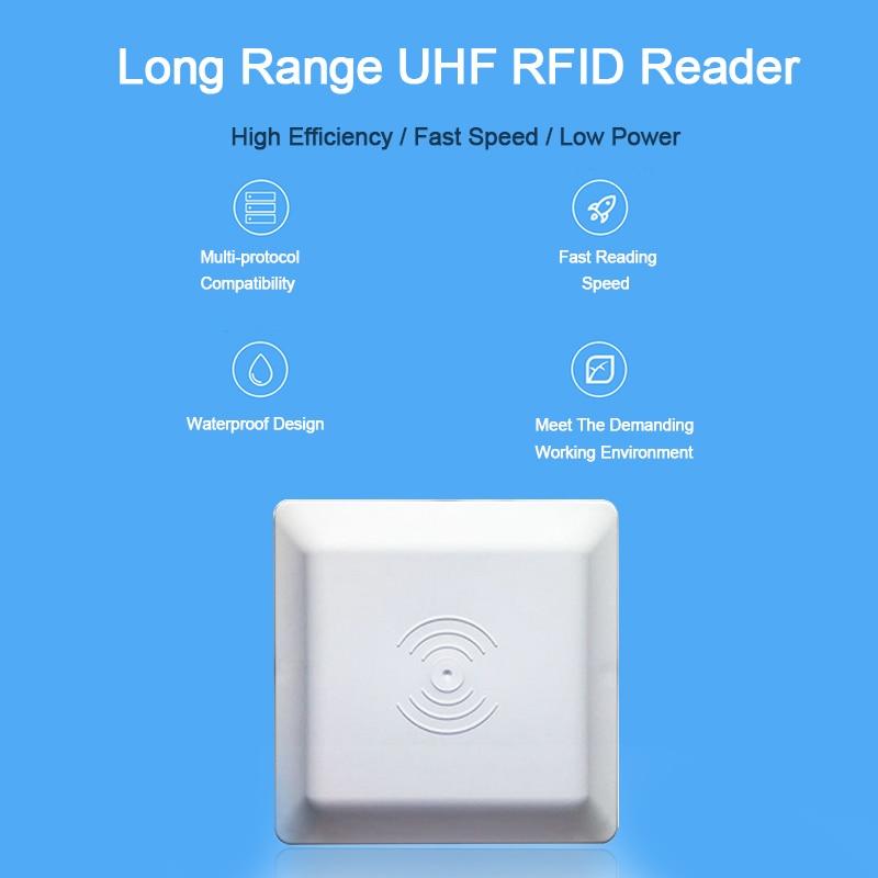 UHF RFID lecteur de carte 6 m longue distance gamme avec 8dbi Antenne Pour RS232RS485Wiegand SDK Intégrative UHF Longue Portée Lecteur