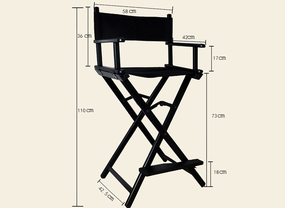 aluminum directors chair comfortable arm makeup case mating director portable size