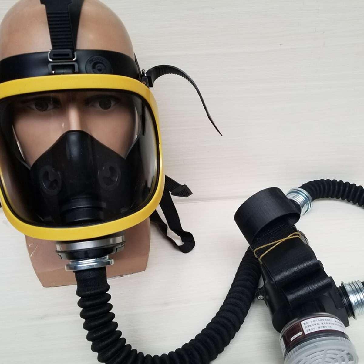 Электрический постоянный поток поставляемого воздуха Fed полный уход за кожей лица газа защитная маска респиратор фильтр системы портативн