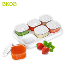 ekoa Tritan Baby Solid Food Storage Box Milk Powder Bottle Feeding Dishes Store Plate Container Bowl formula 1 Dispenser Snack