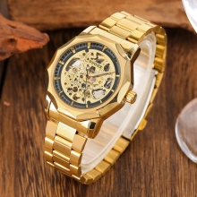 Skeleton Mechanical Bezel saat