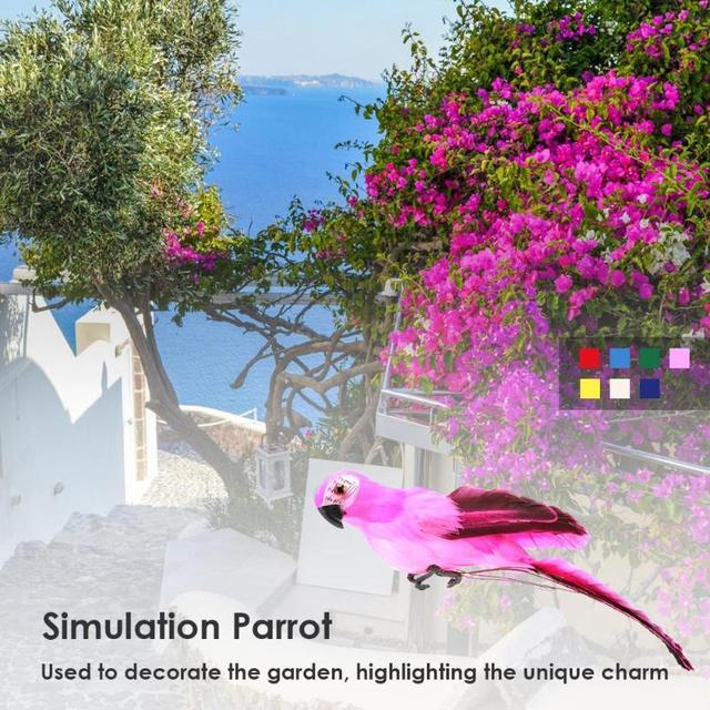 Creative Foam Feather Artificial Parrot Imitation Bird Model Home Ornament Simulation Animal Bird Garden Decoration Garden Tool 6
