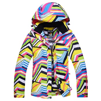 ARCTIC QUEEN Skiing Jackets Women Ski Snow Jackets Winter Outdoor Sportswear Snowboarding Jacket Warm Breathable Waterproof