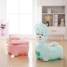 Cartoon Baby Potty Toilet Bowl Training Pan Toilet Seat Kid Portable Urinal Backrest Cute Pot for Baby Kid Toilet Training Potty(China)